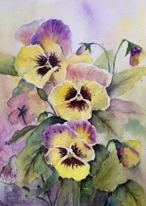 yellow pansies - Mahjabin