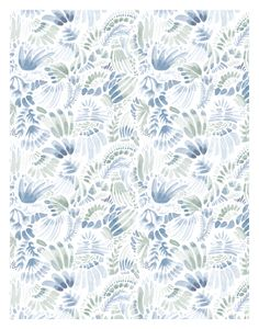 Soft Blue Watercolor Pattern