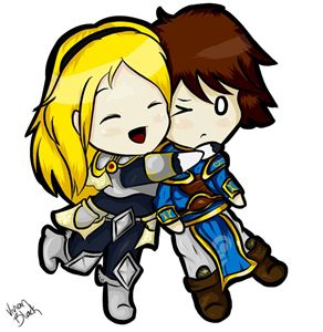Lux and Garen