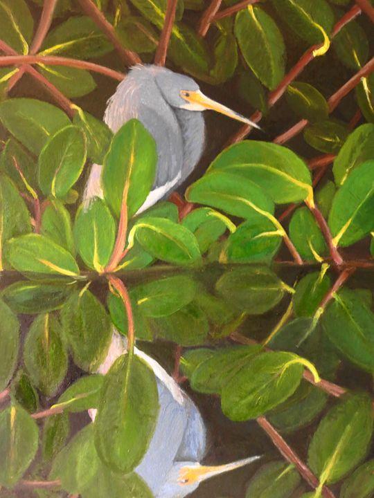 heron reflection - L'Orangerie