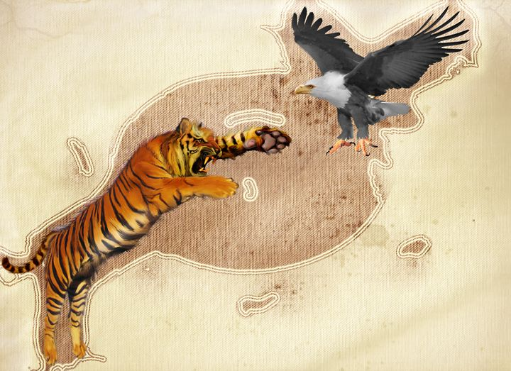 tiger and king of birds - Lee went