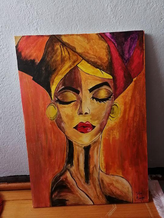 An African woman - Sıla art