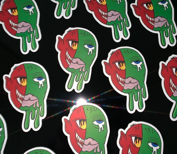 Demons in My Head Stickers - Hann