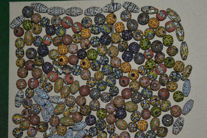 Mosaic Beads carpet beads Viking Bea - Ardomas Handmade Glass lampwork