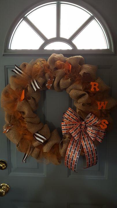 Cleveland Browns Burlap Wreath - Dreamweaver Designs