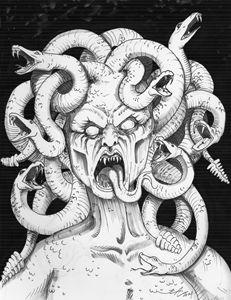 Medusa Portrait - Jeanette Andromeda