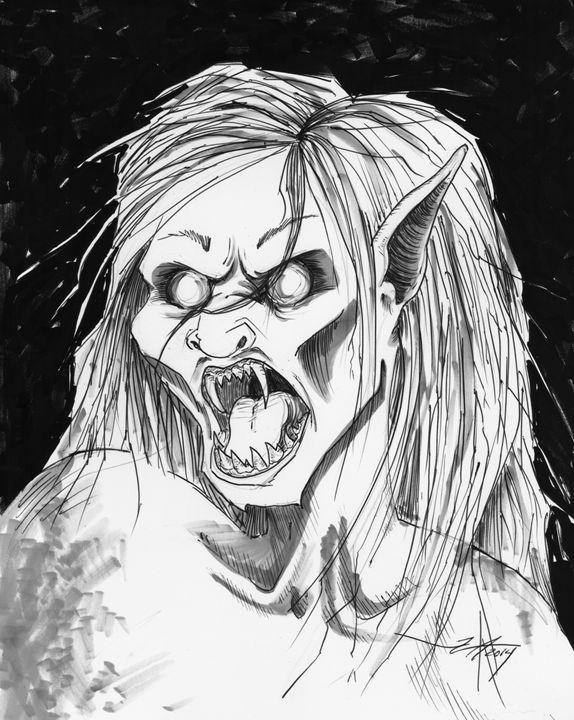 Portrait of a Vampire - Jeanette Andromeda