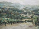 Oil landscape Vineyard