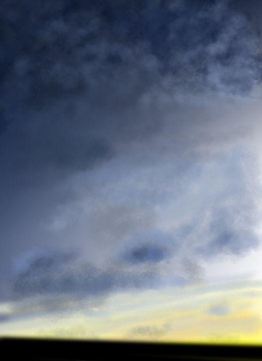 Cloudy sunset - HappyBug art
