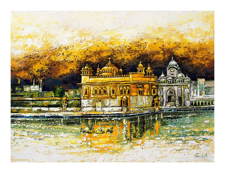 The Golden Temple - 100 BEST PAINTINGS