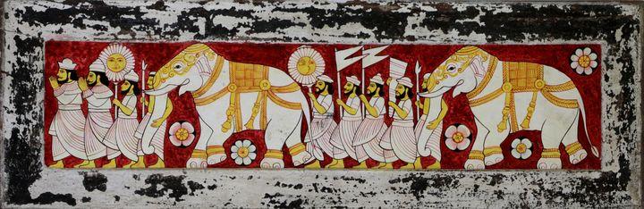 dalada perahera temple painting - wallpaintingslk