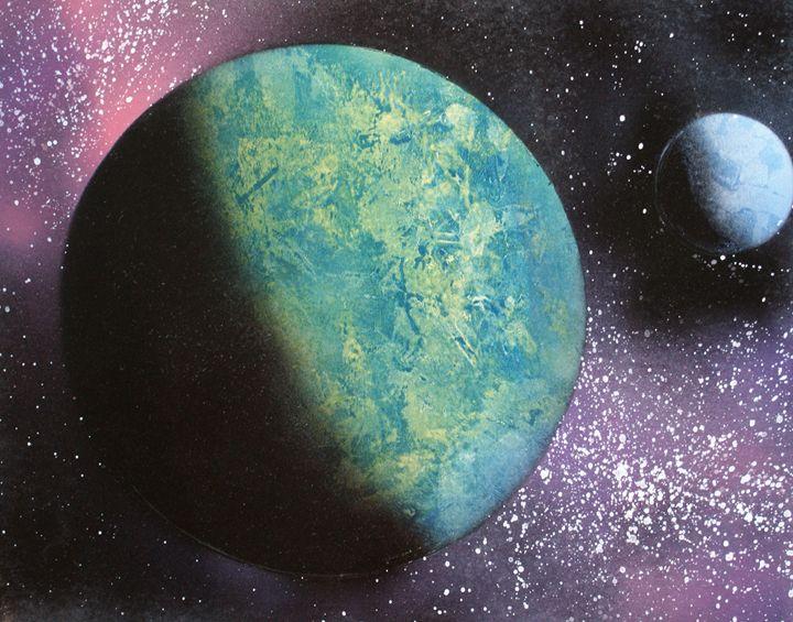 Planet and Moon - JoeB