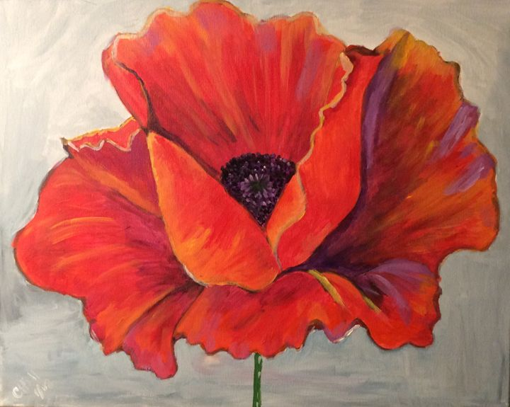 Larger than life poppy - Paintings by SeaJay