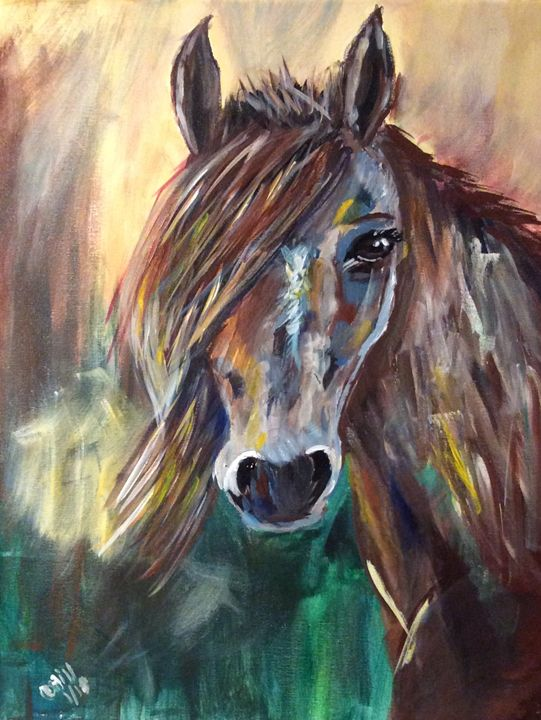 A horse of a different color - Paintings by SeaJay