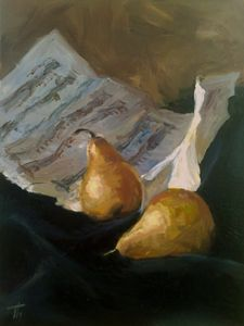 Pears with music sheet