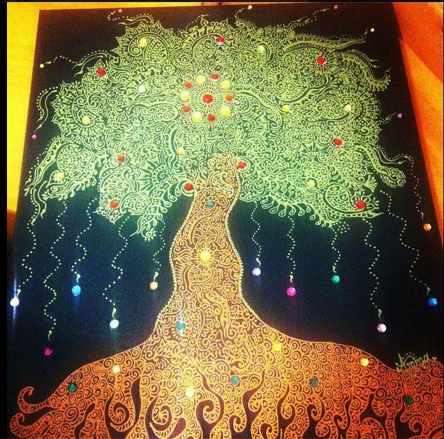 Tree inspired by Henna Designs - iDesign Henna