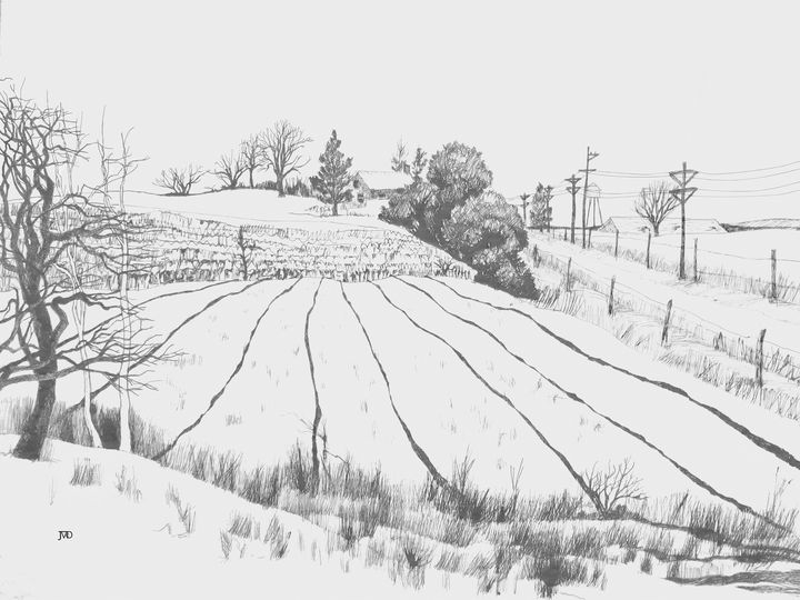 Winter Landscape - Artsyfoolorama