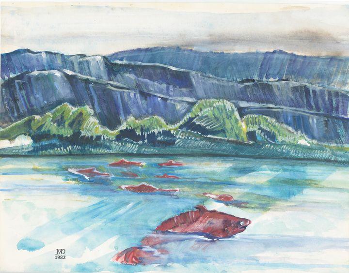 Swimming Upstream - Artsyfoolorama