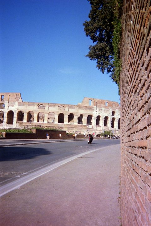Unique view of the Colosseum in Rome - Jewels Art Photo