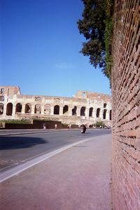 Unique view of the Colosseum in Rome