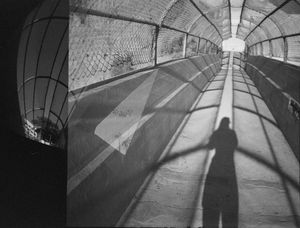 Self Portrait Tunnel Double Exposure