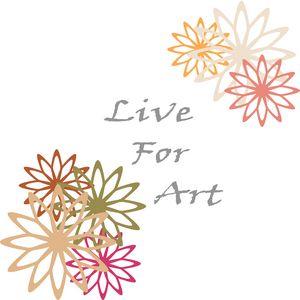 Live For Art Inspirational Print