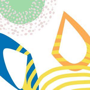 Deep Dive Abstract Summer Print