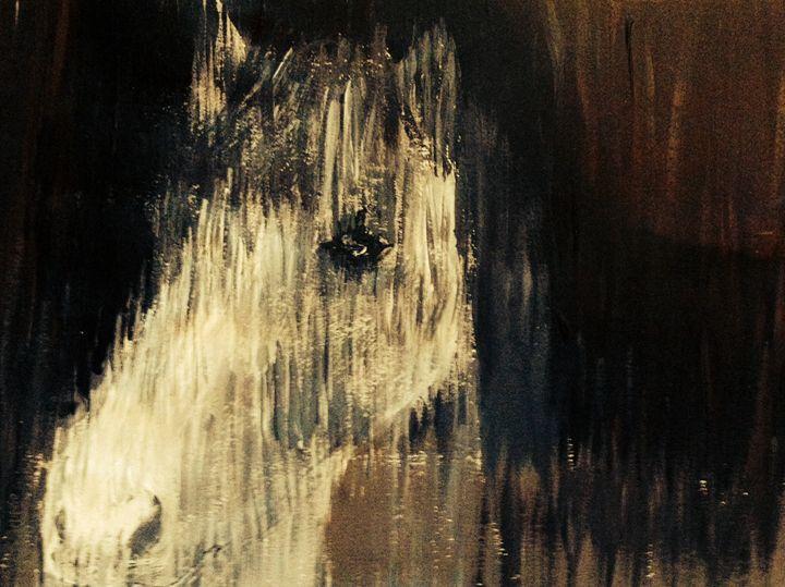 A curious glance - Sarah's original artwork