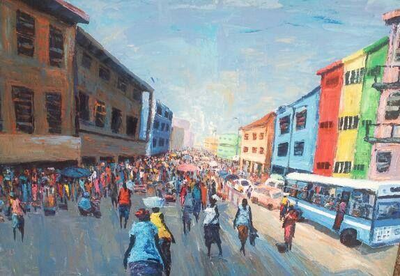 A market scene - wisdom paintings
