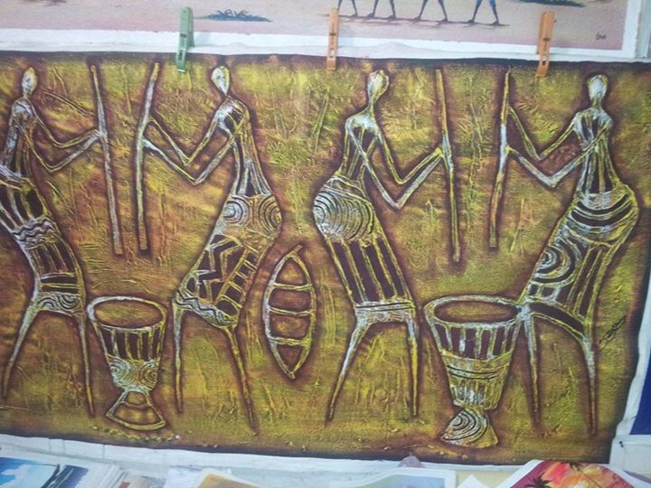pounding fufu - wisdom paintings
