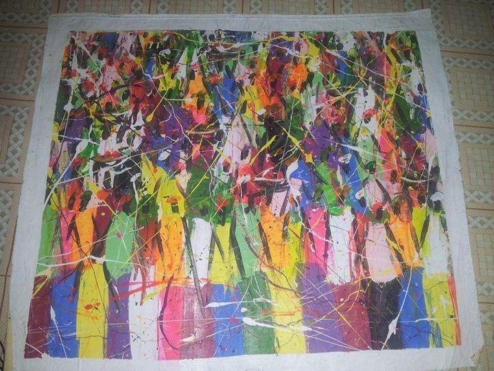 market scene - wisdom paintings