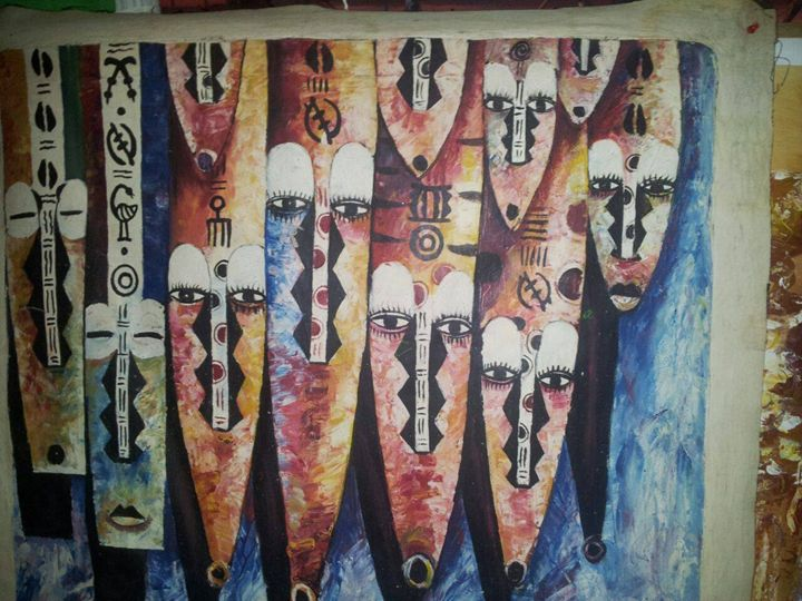 African masks - wisdom paintings
