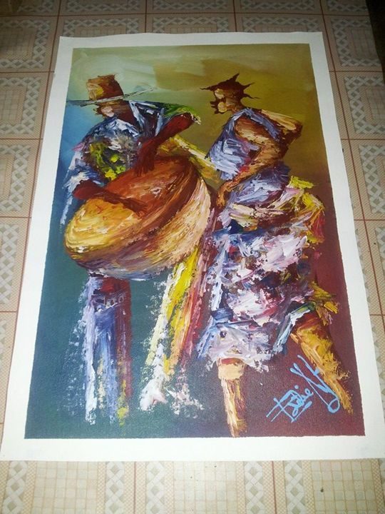 African musictions - wisdom paintings