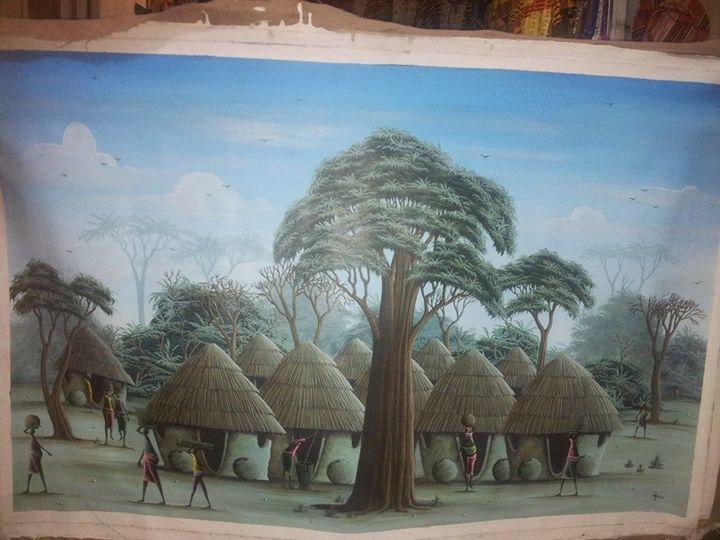 African village scene - wisdom paintings
