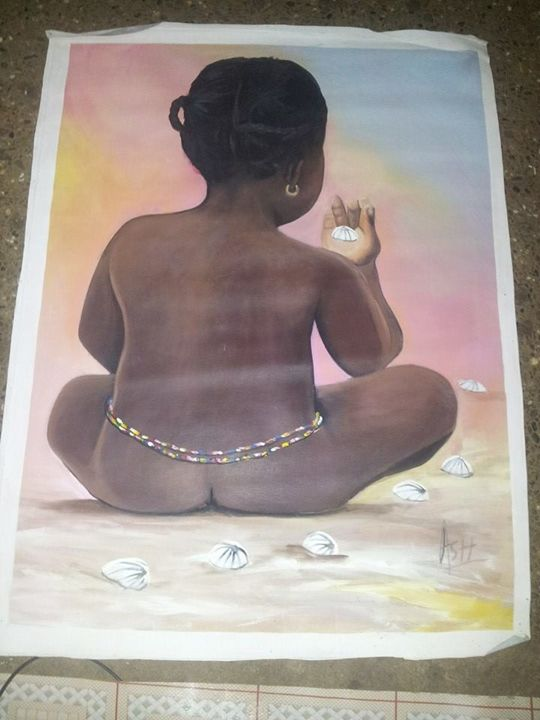 sexy African girl - wisdom paintings