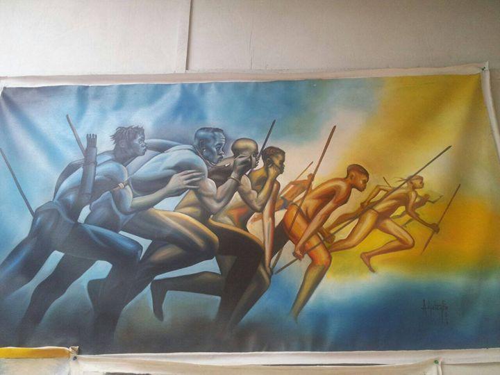 African warriors - wisdom paintings
