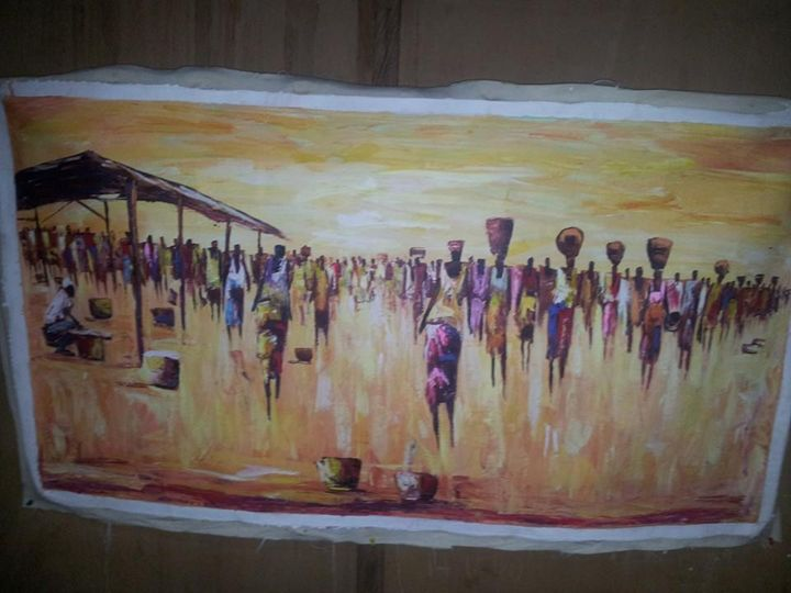 African market scene - wisdom paintings