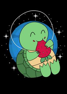Space Turtle Strawberry