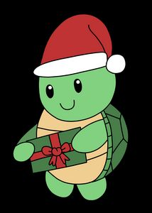 Friendly Santa Turtle