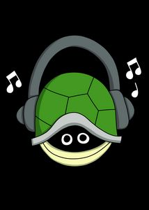 Turtle in Shell Headphones