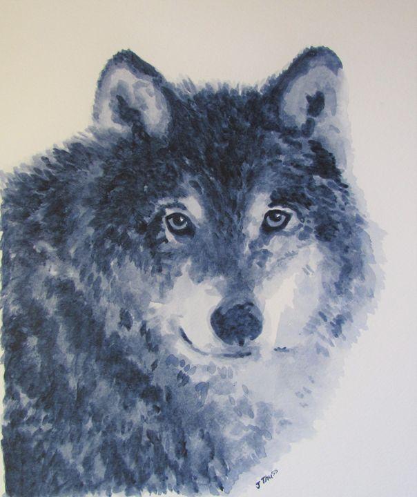 Grey Wolf - Jane Thuss Art