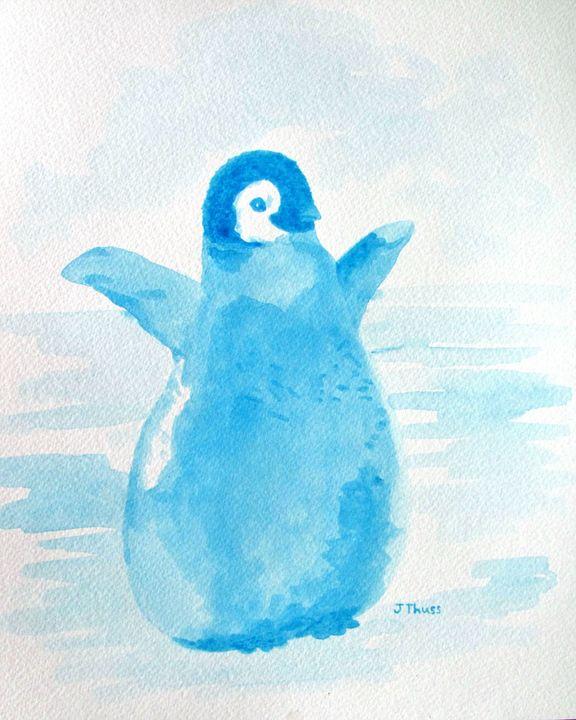 Baby Blue Penguin - Jane Thuss Art