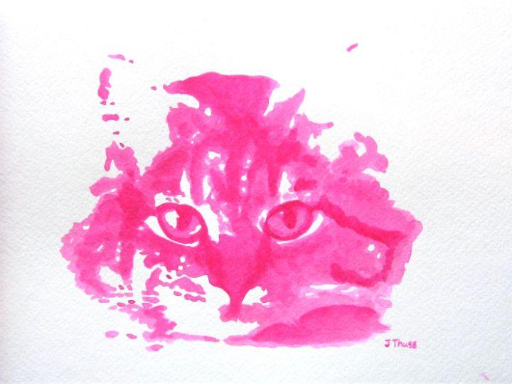 Pink Cat - Jane Thuss Art