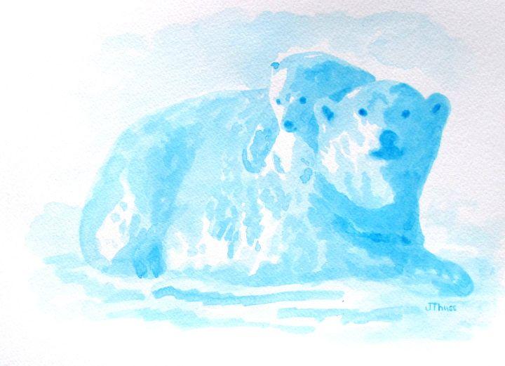 Polar Bear and Cub - Jane Thuss Art