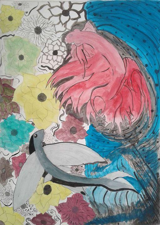 Dancing fish - Shy Drawing