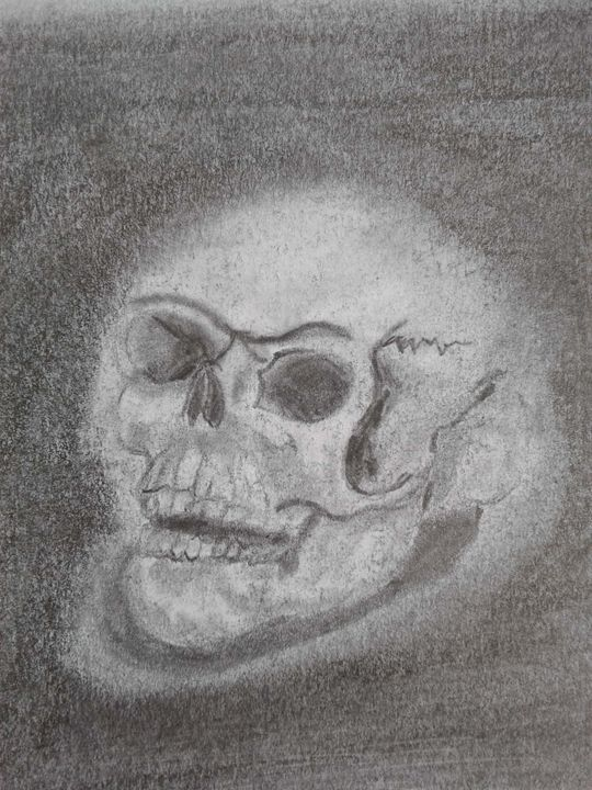 Dark skull - Shy Drawing