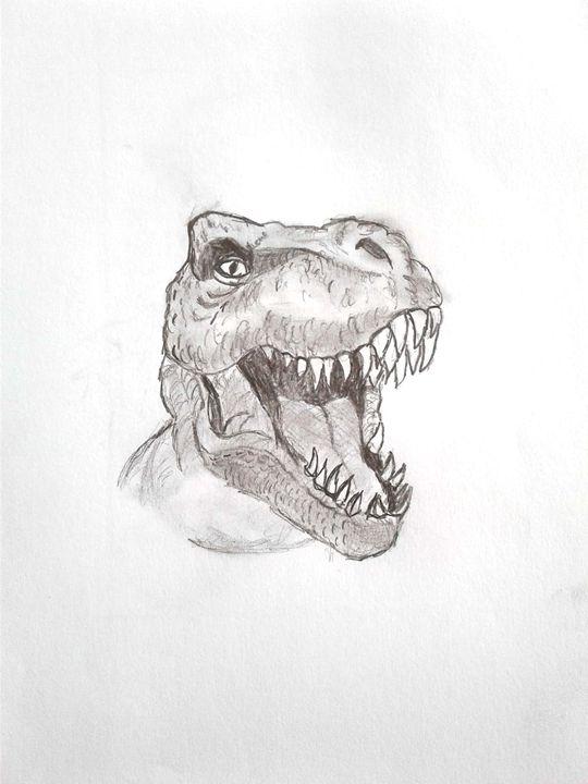 T-rex - Shy Drawing