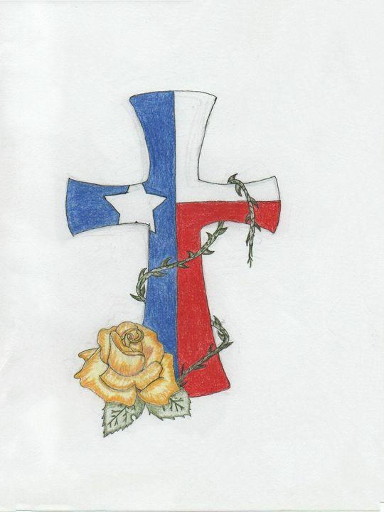 Texas cross - Daydream Wall Art