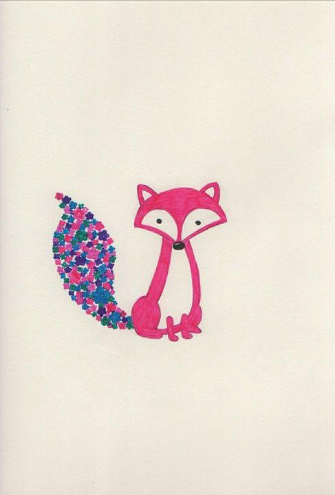 Flower Fox - Daydream Wall Art