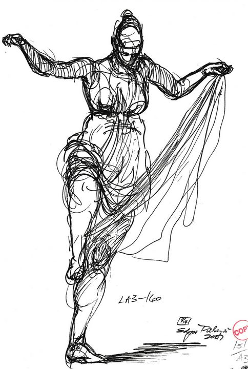 Woman dancing - Edgar Pillinger